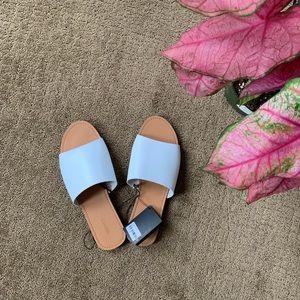 White slide sandal